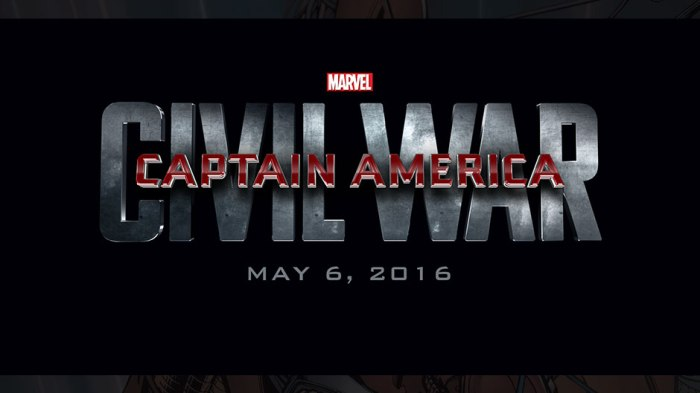 Captain America Civil War Logo Poster