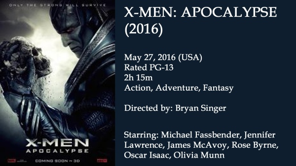 Xmen Apocalypse Movie Ad